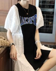 镂空泡泡袖连衣裙女欧洲站夏装2020新款欧货女装时尚洋气a字裙潮