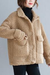实拍8597#2020年秋冬复古文艺加厚保暖洋气宽松开衫羊羔毛外套