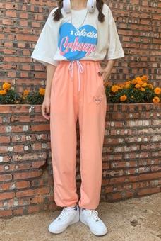 实拍夏季阔腿裤运动裤宽松百搭学生显瘦潮嘻哈伦休闲长裤大量现货