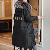 2019冬新款海寧PU皮羽絨棉服女中長貉子毛領加厚過膝顯瘦外套連帽