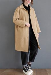6268实拍现货2020年秋冬新加厚夹棉风衣女中长款冬装外套大衣棉服