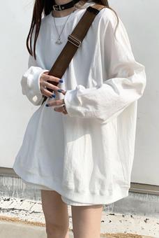 3600#官图特价2020秋季新款ins韩版超火圆领纯色上衣宽松卫衣女潮