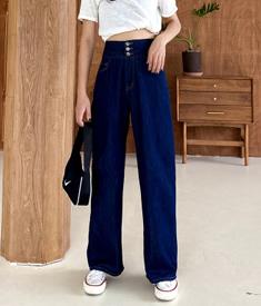 6337实拍高腰显瘦阔腿拖地裤2020夏季专利冰氧吧牛仔原色长裤复古