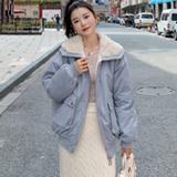 实拍羽绒服棉衣2020新款韩版超火短款外套羊羔毛ins加厚棉服女潮