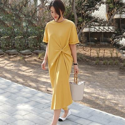 9962#孕妇夏装连衣裙时尚款不规则夏季纯棉T恤仙女裙子洋气休闲潮