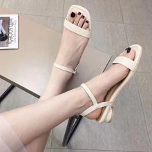 轻便百搭女凉鞋女夏时尚外穿防滑粗跟凉鞋度假女潮流凉鞋2025
