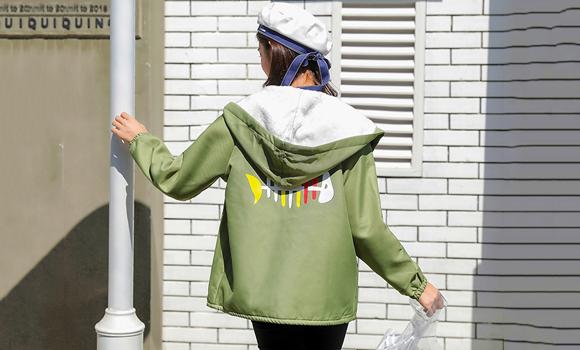 实拍2019秋冬新款外套女韩版宽松bf百搭学生短款薄外套潮