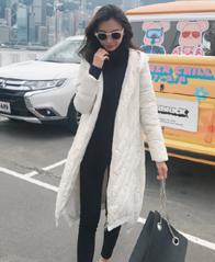 实拍2018冬季新款中国风羽绒棉服中长款韩版面包服休闲复古防寒服