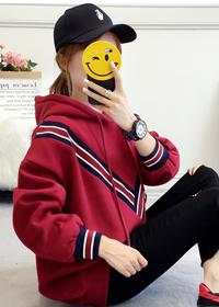 889#实拍加绒加厚2018秋冬卫衣女韩版学生宽松长袖ins超火的帽衫
