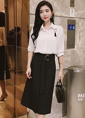 实拍 长裙半身裙女春夏显瘦2020新款中长款高腰修身一步包臀裙子