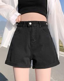高腰牛仔短裤女宽松显瘦阔腿裤夏季薄款2021年新款可调节热裤女