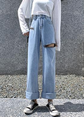 【实拍】高腰牛仔裤女直筒宽松泫雅风高腰2020夏季薄款垂感拖地裤