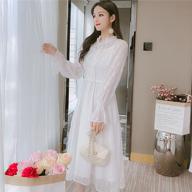 實拍:1971#2019年新款潮流時尚初秋洋雪紡氣小香風連衣裙
