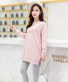 982 实拍孕妇秋装套装2018新款秋季孕妇上衣长裤韩版卫衣两件套
