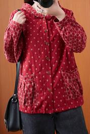 实拍8501#2020秋季宽松格子棉麻长袖连帽短外套上衣百搭休闲外套