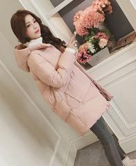 实拍冬季外套棉服女韩版宽松bf学生棉衣中长款新款棉袄ins面包服