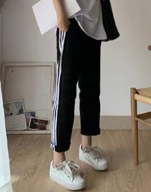 实拍~2020夏季新款爆款运动学生休闲宽松显瘦韩版九分长裤直筒裤