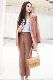 902#实拍现货新款韩版网红风小西装气质女神西装长裤套装两件套