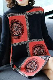 针织连衣裙女秋冬季2018新款秋装韩版中长款长袖打底衫毛衣裙宽松