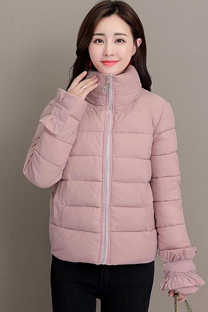 实拍2018新款外套女冬季短款加厚棉袄修身羽绒棉服女装面包服棉衣