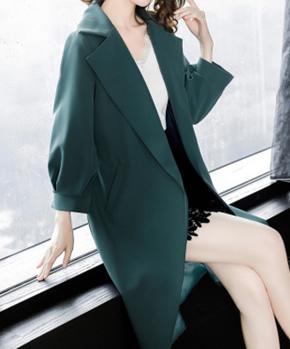 风衣女中长款韩版2018秋季新款休闲宽松显瘦气质早秋港风过膝外套