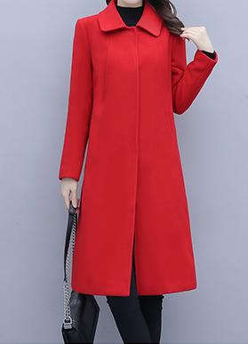 实拍现货   时尚气质毛呢外套女2020秋冬季新款宽松显瘦呢子大衣