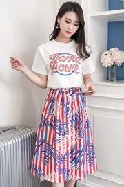 夏装2018新款女小清新港味俏皮套装女省心搭配小香风两件套时尚潮