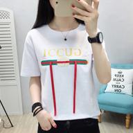 6706# 2019夏季新款实拍宽松短袖女式印花体恤韩版女装T恤