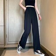 实拍543#裤子女夏2020韩版宽松运动裤休闲裤阔腿裤高腰垂感直筒裤