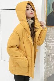 实拍现货2019秋冬新款百搭外套羽绒棉服小个子短款连帽加厚外套