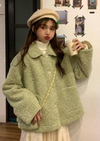 【320克】仿羊羔绒毛卫衣女外套2019新款秋冬季宽松学生大码上衣潮