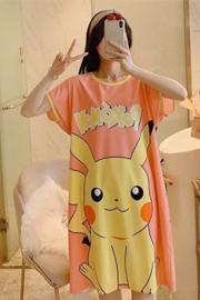 【有佳】短袖睡裙夏季卡通甜美宽松套装