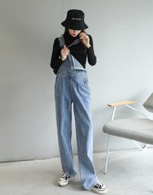 2020秋装新款直筒拖地背带裤牛仔裤女995A长裤