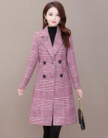 实拍现货 毛呢外套女中长款气质显瘦2020年秋冬新款百搭呢子大衣
