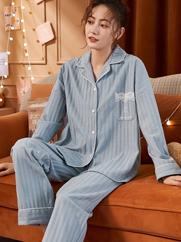 女士睡衣春秋季长袖韩版学生可爱2021新款宽松大码家居服套装