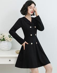 2020秋冬西裝領連衣裙