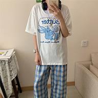 实拍542#韩版休闲阔腿裤套装洋气可盐可甜时尚T恤减龄显瘦两件套