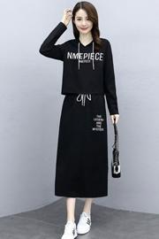 胖mm大码套装裙2020年新款女初秋两件套时尚洋气减龄显瘦气质遮肉