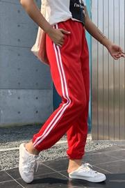 【实拍】2018宽松休闲阔腿运动裤女秋薄款哈伦裤hipho男女情侣裤