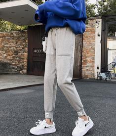 实拍8300运动裤女裤宽松秋冬季韩版网红哈伦裤加绒束脚休闲卫裤子
