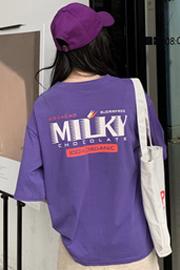 584#原宿风短袖t恤女夏季学生宽松半袖上衣潮