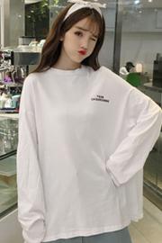 【官方图】701#下衣失踪上衣女2018新款秋韩版怪味少女长袖t恤