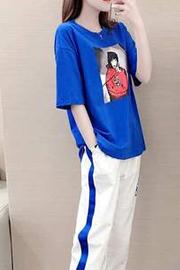 夏季运动套装女2019新款女神宽松时尚洋气网红休闲 【大量现货】