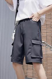 实拍9381#夏季韩国大口袋美式复古ins工装短裤休闲五分裤男女同款