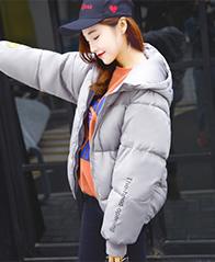 9666#实拍2017新款羽绒棉服短款休闲韩版大码学生面包服棉衣外套