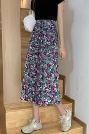 #05实拍实价(有内里)2021新款显瘦遮胯高腰碎花半身裙女夏长裙女