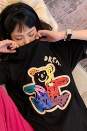 K124#(官图)夏季2020新款ins潮韩版宽松超火的网红纯棉短袖T恤女