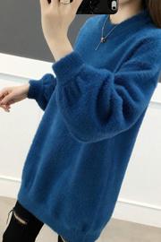 2021大码卫衣女胖mm仿毛绒女宽松秋冬套头洋气打底衫可穿到185斤