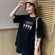 【实拍】95%棉19 牛奶丝11短袖t恤女宽松学生韩版网红港风ins上衣