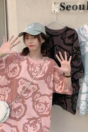 33#实拍 (6535)2021新款满印小熊韩版T恤